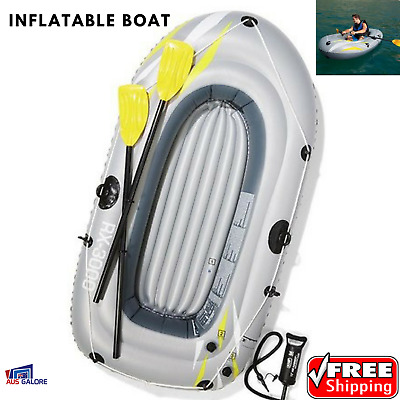 Inflatable Boat Raft Dinghy With Oars Pump Repair Kit RX 3000 Fishing Bestway