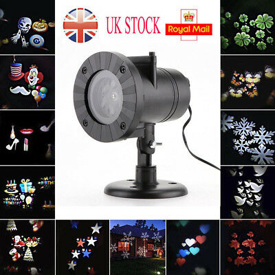 Moving LED Laser Projector Lamp Landscape Star Light Xmas Halloween Outdoor UK