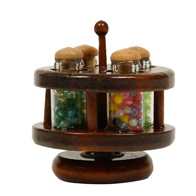 1:12 New Mini Wooden Seasoning Jar For Miniature Dollhouse Room Decor Gifts  DIY