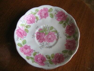 Vintage Queen Anne Lady Alexander Rose Saucer