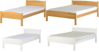 Amber 3Ft Single, 4Ft6Inch Double Bed Frame In White Or Antique Pine Finish