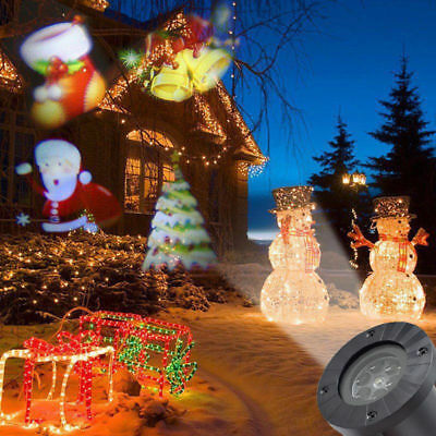 Outdoor Moving LED Laser Projector Lamp Landscape Garden Light Xmas Halloween UK