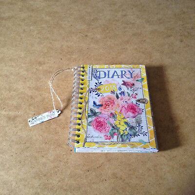 Daphne's Diary 2018 Diary Week To View Colouring Pages Stickers Shabby Chic