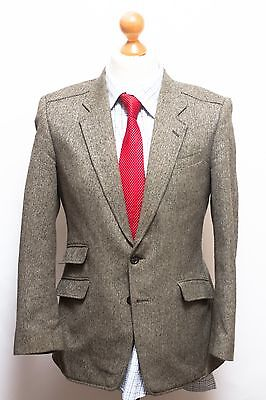 Gents Tweed  Blazer Jacket By Gurteen 38S Grey