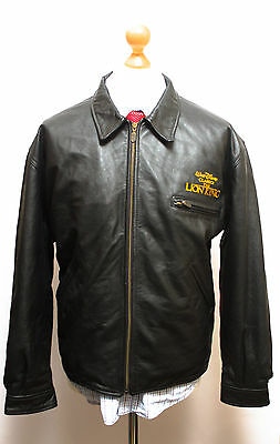 Walt Disney The Lion King Leather Bomber Official Genuine Jacket Large