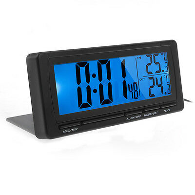 3in1LCD Digital Auto KFZ Thermometer Wecker Uhr Multifunktion Celsius/Fahrenheit