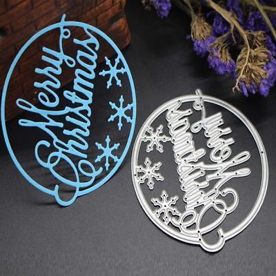 Newest Merry Christmas Cutting Dies Stencil Scrapbooking Embossing Album Crafts