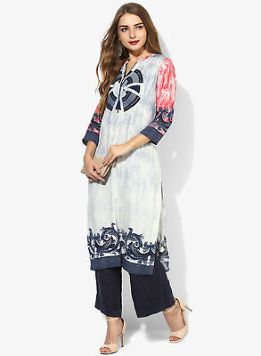 New Indian Bollywood Designer Women Ethnic Dress Lagi Printed Rayon Kurti
