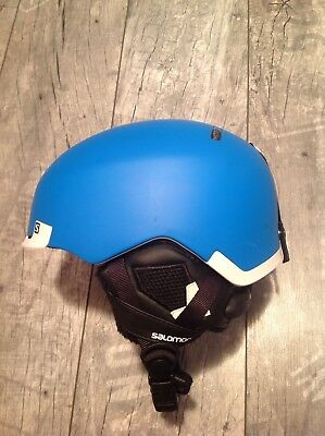 Salomon Skihelm Hacker Custom Air Blue Gr. S 53cm - 56cm