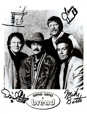 David Gates & Bread Autographed 8x10 Signed Photo Reprint