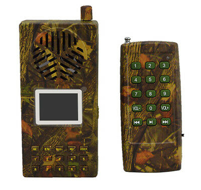 Outdoor Hunting Bird Caller MP3 Player Loud Speaker With Remote Control Camo
