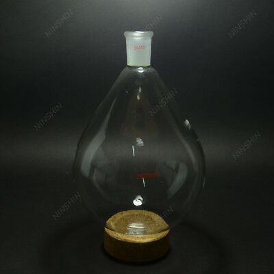 2000ML Pyriform Flask,Rotary Evaporator Flask,24/40,Lab glass Kjeldahl Flask
