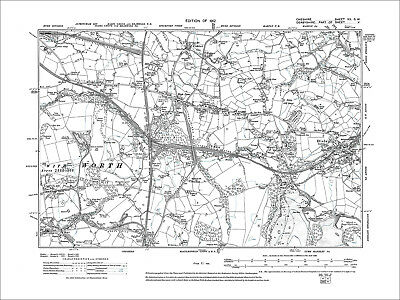 Old Ordnance Suvrey Maps Disley North /& High Lane Cheshire 1907 Sheet 20.10