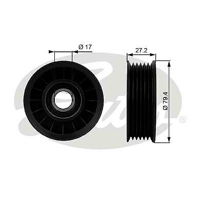Gates Engine Idler Pulley 38009 fits Holden Commodore VS 3.8 V6, VS 3.8 V6 Su...