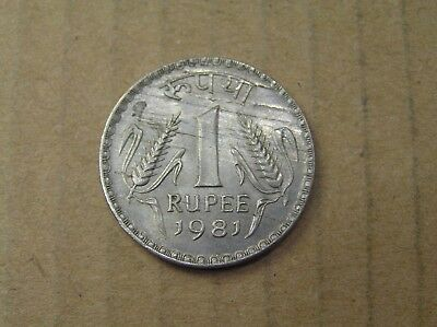 1981 India 1 Rupee Coin, 28 mm