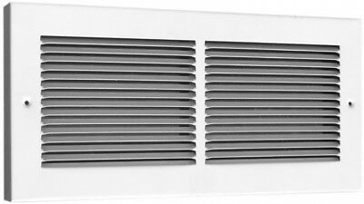 TruAire 30 in. x 6 in. Steel White Baseboard Return Air Grille 3/4-Inch Back New