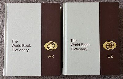 Vintage 1978 World Book Dictionary A-K And L-Z - H/c - Near Perfect Condition
