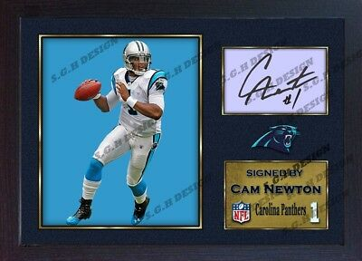 Cam Newton #1 Carolina Panthers NFL signed autograph American Football Framed