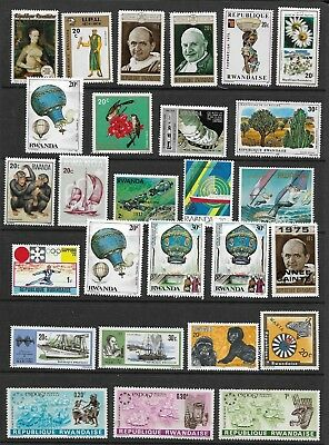 Large Collection of Mint Rwanda Stamps