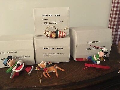 DISNEY GROLIER CHRISTMAS ORNAMENT LOT of 4