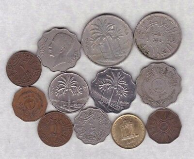12 Coins From Iraq In Fine Or Better Condition