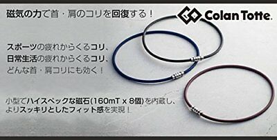 Colantotte Necklace CREST White L size 51cm from JAPAN F/S with tracking number
