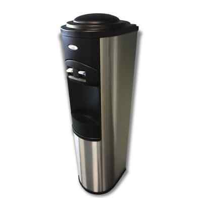 OASIS Quarrtz Plumbed Stainless Steel Cold/Ambient Office Water Cooler/Dispenser