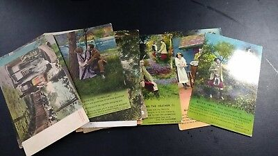 Collection of 20 old postcards dated between 1914 and 1919