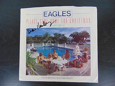 Don Henly Christmas.The Eagles Don Henley Hand Signed 45 Cover W Paas Coa