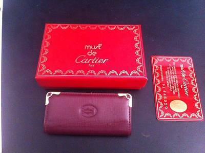 Genuine and NEW Must de CARTIER Keyring Wallet Bag (Authentic & Original)