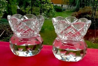 Pair Antique Cut Crystal Toothpick Holder Spill Vase Vintage Quality Charming