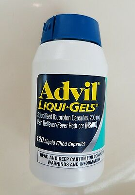 Advil Liquid-Gels 200 mg Capsules 120 count < FREE WORLD WIDE SHIPPING >