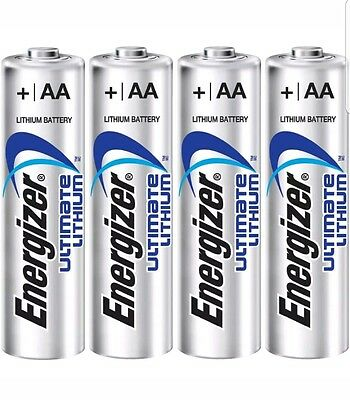 Energizer Ultimate Lithium AA Batteries Expires 2036 x 4