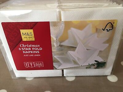 Star Fold Napkins - Marks And Spencer's-Christmas-just Like Linen