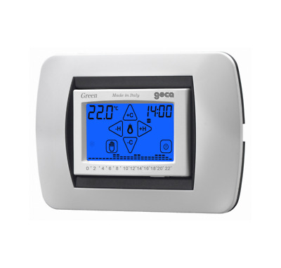 Geca 35282239 Green Cronotermostato Dig.touch Screen Da Incasso Bianco