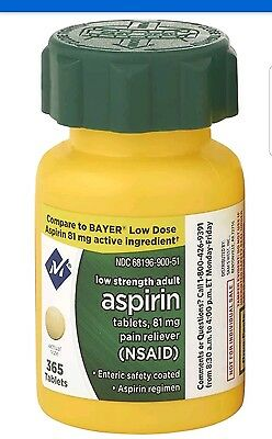 Member's Mark™ 81 mg Low Strength Aspirin - 365 ct < FREE WORLD WIDE SHIPPING >