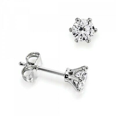 I1 Hi Gold Platinum Natural Round Diamond Stud Earrings For Women 0 10