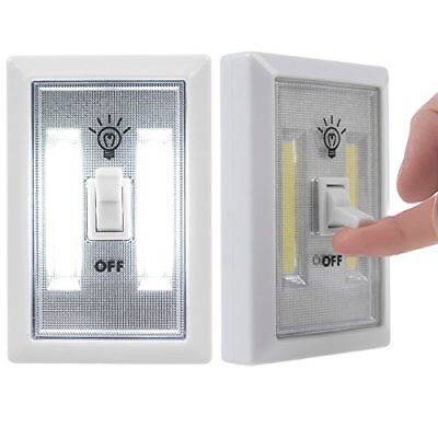 COB 2 Pack LED Wall Lighted Switch Wireless Closet Night Light Multi-Use For