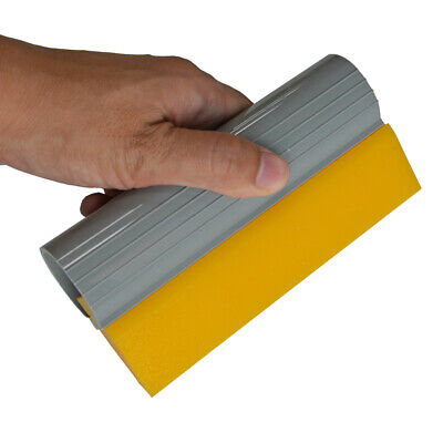 "5.5"" Yellow Turbo Squeegee Angled Rubber Vinyl Wrap Glass Tint Film Install Tool"
