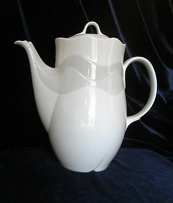 Vintage Goebel Zamora Coffee Pot - West Germany - Grey and White - Never Used
