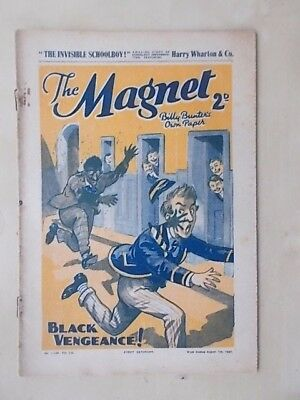 THE MAGNET - BILLY BUNTER'S OWN PAPER - VINTAGE BOYS COMIC - AUGUST 7th 1937