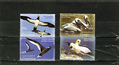 DOMINICA , Sea Birds set of 4 , 25c - $4 MINT NH