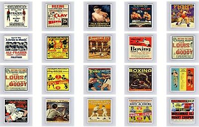 Old Boxing Poster Drink Coaster / Coasters