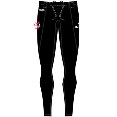Ladies Kukri Ulster Rugby Full Length Running Tights (Black/Charcoal) (S44649)