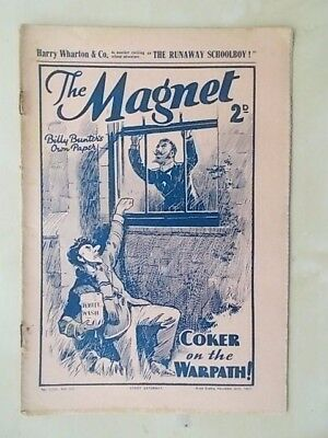THE MAGNET - BILLY BUNTER'S OWN PAPER - VINTAGE BOYS COMIC - NOVEMBER 20th 1937
