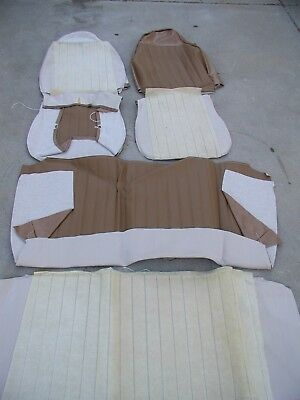 NOS 1973 Volkswagen Beetle Padded Front & Rear Seat Covers Tan upholstery VW Bug