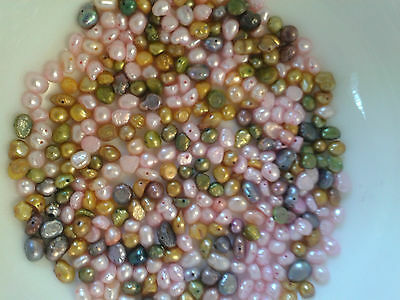 Freshwater Pearl Beads Bundle-80g-over 375 Beads-3mm to 6mm (C)
