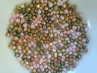 Freshwater Pearl Beads Bundle-80g-over 375 Beads-3mm to 6mm (B)