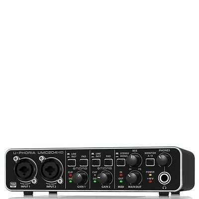 New BEHRINGER UMC204HD 24-Bit/192kHz USB audio interface Japan with Tracking