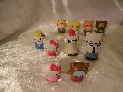 Hello Kitty Sanrio Play Figures Lot Of 12 Very Nice See Pictures